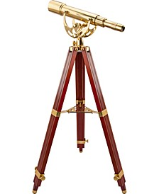 15-45x50mm Anchormaster Classic Brass Spyscope, Anchormaster with Mahogany Floor Tripod