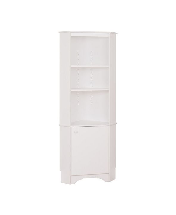 Prepac Elite Tall 1-Door Corner Storage Cabinet