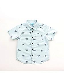 Toddler Boy Printed Button Down Shirt