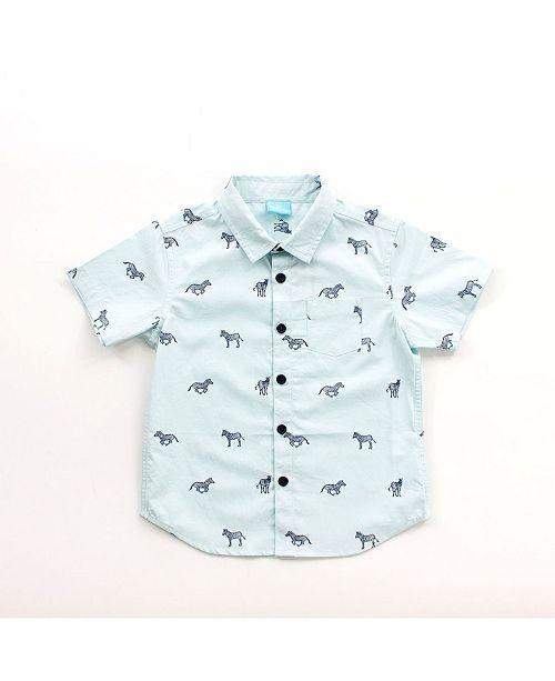 Bear Camp Toddler Boy Printed Button Down Shirt