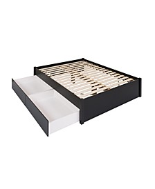 Queen Select 4-Post Platform Bed with 2 Drawers
