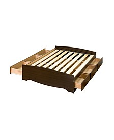 Full Mate's Platform Storage Bed with 6 Drawers