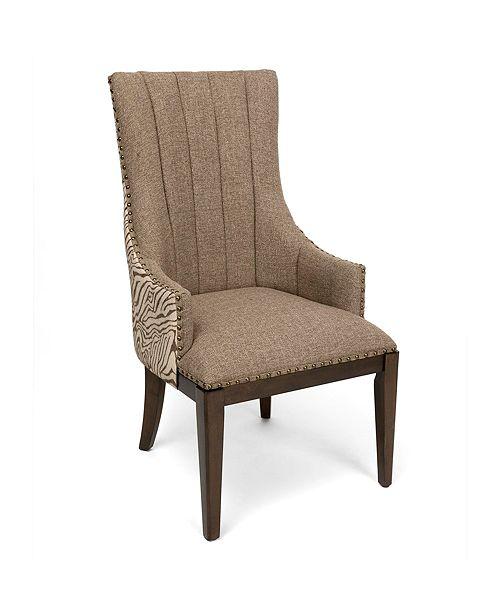 Crestview Safari Channel Back Accent Chair