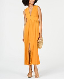 Petite Split-Hem A-Line Maxi Dress