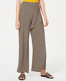 Bar III Printed Tie-Waist Pants, Created for Macy's