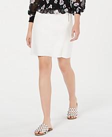 Bar III Frayed-Hem Mini Skirt, Created for Macy's