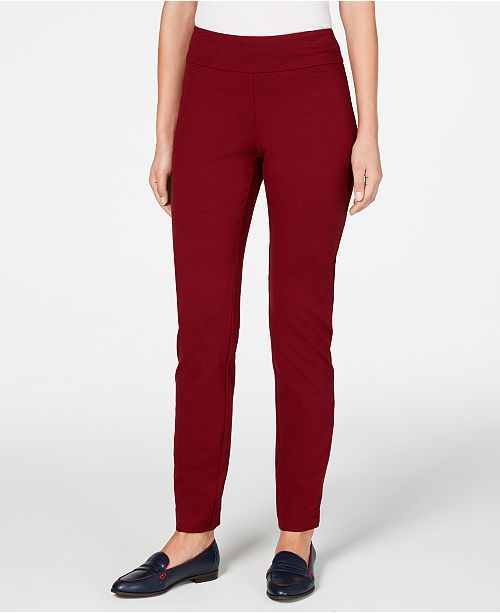 Charter Club Cambridge Pull-On Ponte Pants, Created for Macy's