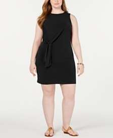 MICHAEL Michael Kors Plus Size Tie-Waist Sheath Dress