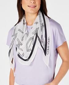 Calvin Klein Logo-Print Diamond Scarf