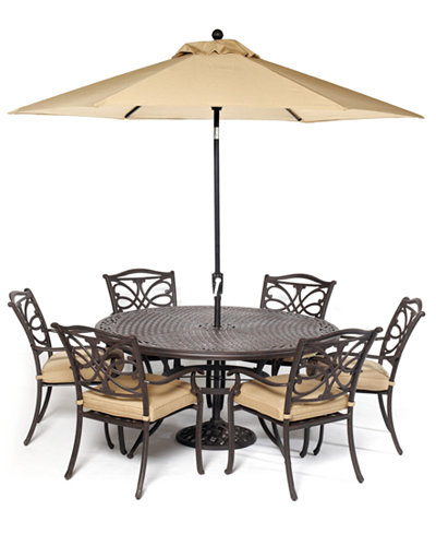 CLOSEOUT! Kingsley Outdoor Cast Aluminum 7-Pc. Dining Set (60