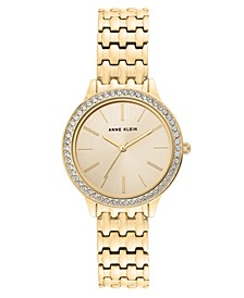 Women's Gold-Tone Stainless Steel Expansion Bracelet Watch 35mm