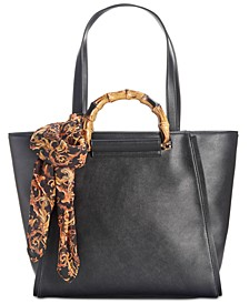 INC Hazell Bamboo Handle Tote, Created for Macy's
