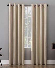"Sun Zero Patina 52"" x 84"" Textured Blackout Curtain Panel"