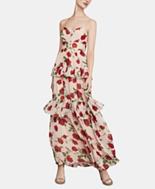 BCBGMAXAZRIA Floral-Print Ruffled Maxi Dress