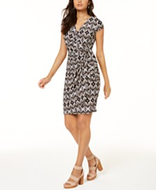 I.N.C. Petite Printed Wrap Dress, Created for Macy's