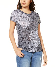 INC Printed Burnout T-Shirt, Created for Macy's