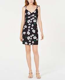 Bar III Floral-Print Slip Dress, Created for Macy's