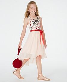 Big Girls Embroidered High-Low Dress