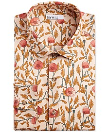 Men's Slim-Fit Stretch Large Poppy-Print Dress Shirt, Created for Macy's