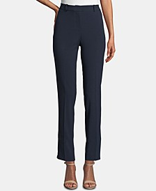 Petite Shannon Slim Straight-Leg Dress Pants