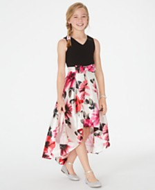 Speechless Big Girls Floral-Print High-Low Dress