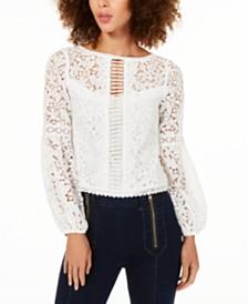 Nanette Lepore Crochet-Lace Blouse