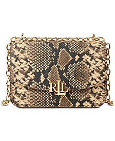 Madison Snake-Embossed Crossbody