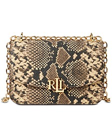 Lauren Ralph Lauren Madison Snake-Embossed Crossbody