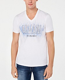 Men's Slim-Fit Stenciled Logo T-Shirt