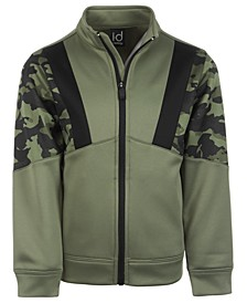 Little Boys Camo-Print Colorblocked Fleece Jacket, Created for Macy's