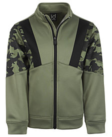 Ideology Little Boys Camo-Print Colorblocked Fleece Jacket, Created for Macy's