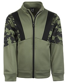 Ideology Little Boys Camo-Print Colorblocked Fleece Jacket, Created for Macy's
