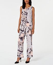 Printed Blouse & Flare-Leg Pants