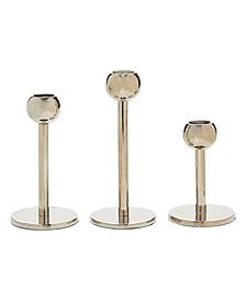 Modern Candle Holders Set of 3 Slick Design
