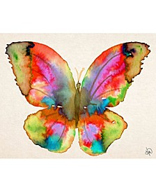 Prism Butterfly Watercolor Abstract Portrait Metal Wall Art Print