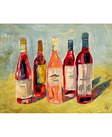 """Rose Wines Colorful Abstract Portrait Metal Wall Art Print - 24"""" x 36"""""""