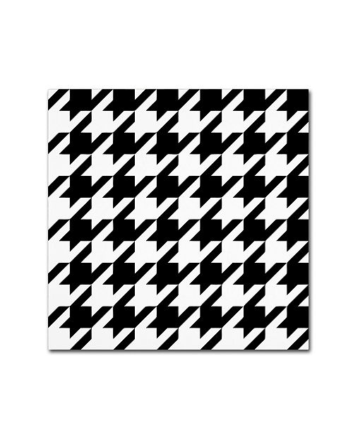 "Trademark Global Color Bakery 'Xmas Houndstooth 6' Canvas Art - 14"" x 14"""