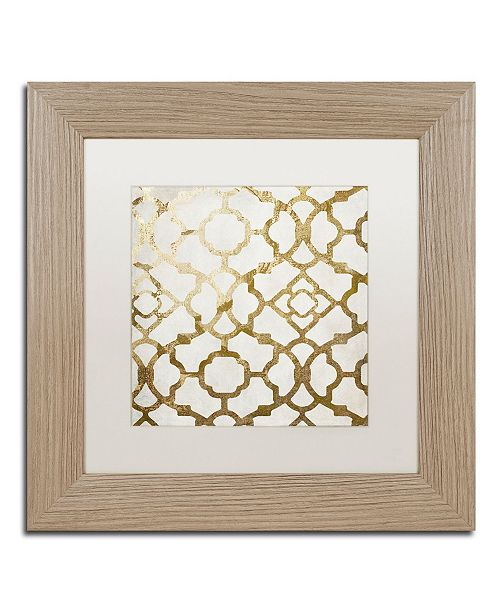 "Trademark Global Color Bakery 'Moroccan Gold II' Matted Framed Art - 11"" x 11"""
