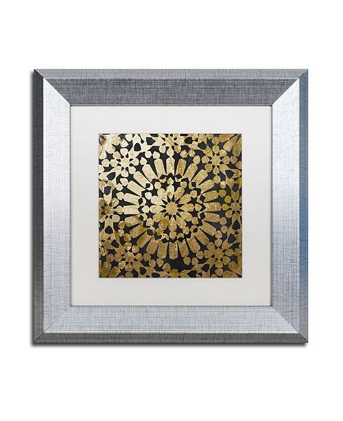 "Trademark Global Color Bakery 'Moroccan Gold III' Matted Framed Art - 11"" x 11"""