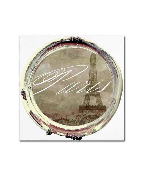 "Trademark Global Color Bakery 'Paris in Frames 3' Canvas Art - 14"" x 14"""