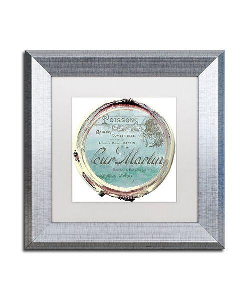 "Trademark Global Color Bakery 'Paris in Frames 4' Matted Framed Art - 11"" x 11"""