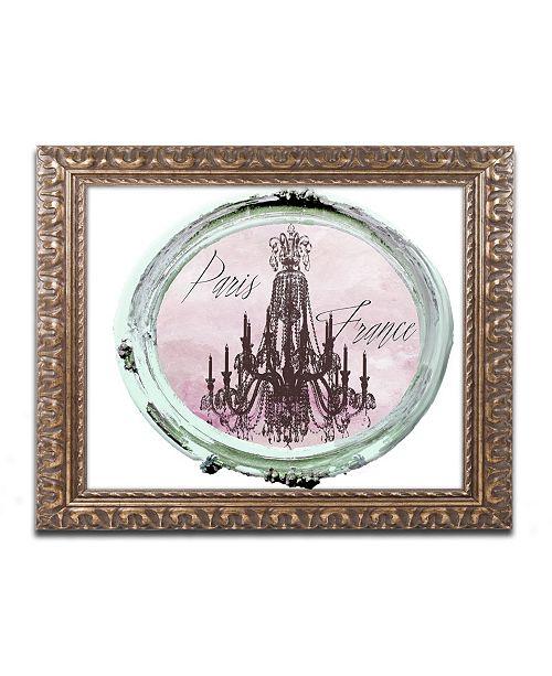 """Trademark Global Color Bakery 'Paris in Frames 5' Ornate Framed Art - 11"""" x 14"""""""