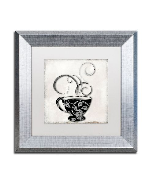 "Trademark Global Color Bakery 'Silver Brewed 1' Matted Framed Art - 11"" x 11"""