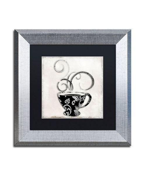 "Trademark Global Color Bakery 'Silver Brewed 2' Matted Framed Art - 11"" x 11"""