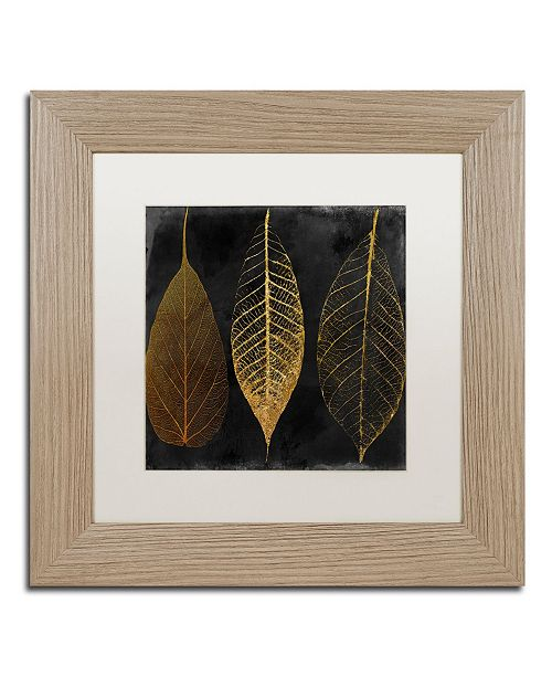"Trademark Global Color Bakery 'Fallen Gold I' Matted Framed Art - 11"" x 11"""