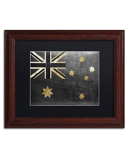 "Trademark Global Color Bakery 'Fashion Flag III' Matted Framed Art - 11"" x 14"""