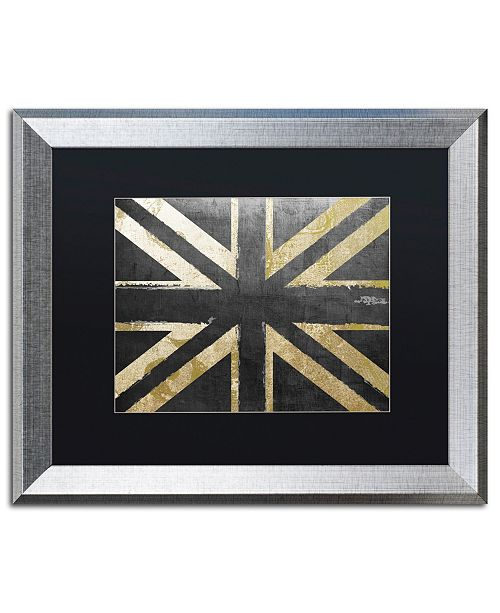 "Trademark Global Color Bakery 'Fashion Flag IV' Matted Framed Art - 16"" x 20"""