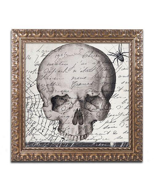 """Trademark Global Color Bakery 'Halloween Skull' Ornate Framed Art - 16"""" x 16"""""""