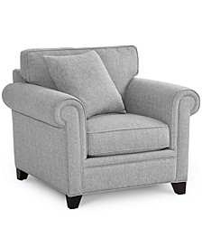 """Banhart 41"""" Fabric Arm Chair, Created for Macy's"""