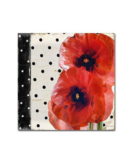 """Trademark Global Color Bakery 'Scarlet Poppies I' Canvas Art - 35"""" x 35"""""""